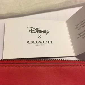 Coach Bags - Authentic Coach Wristlet Disney Mickey Mouse Red